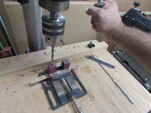 Drilling the 7mm holes