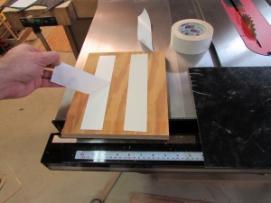 Applying double sided tape