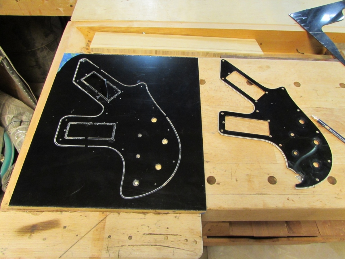 Making pick guards on the CNC | Midnight Woodworking