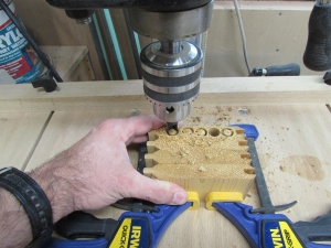 Making end grain plugs for dowels