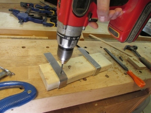 Drilling the mounting holes