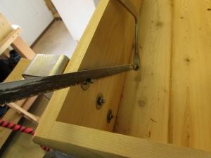 Cutting the top screws flush