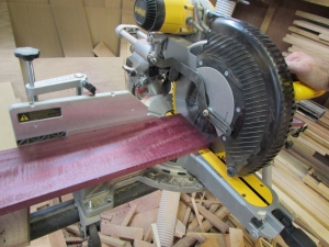 Cutting the purpleheart 24