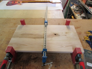 Maple clamped up