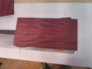 Purpleheart is a little narrow
