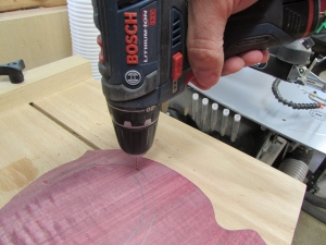 Drilling a small starter hole