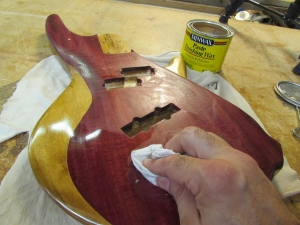 Applying a little paste wax