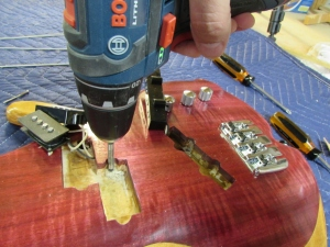 Deepening the hole with a forstner bit