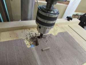 Creating walnut plugs