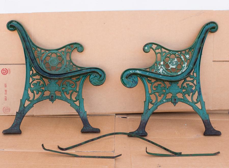 Park bench slats – delivered and installed