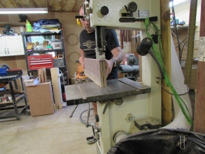 Finishing on the band saw