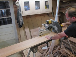 Cutting the center piece