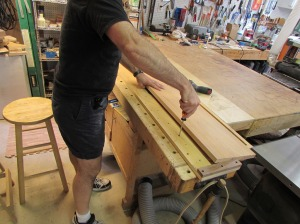 Setting up the planer sled