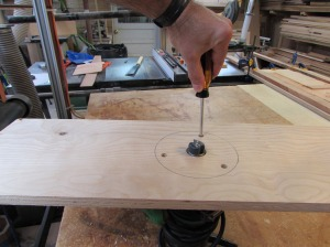 Attaching the sled base to the router