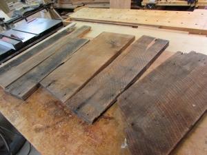 Reclaimed hemlock scraps