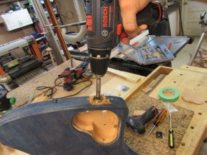 Drilling out the input jack hole