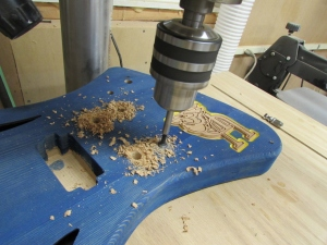 Drilling post holes for tuneomatic and tailpiece