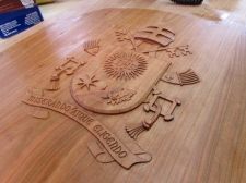 Papal carving