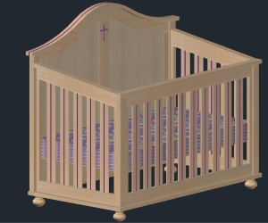 3d crib w-cross