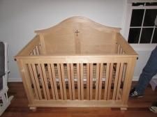 Maple & Purpleheart crib