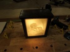 Lithophane light box